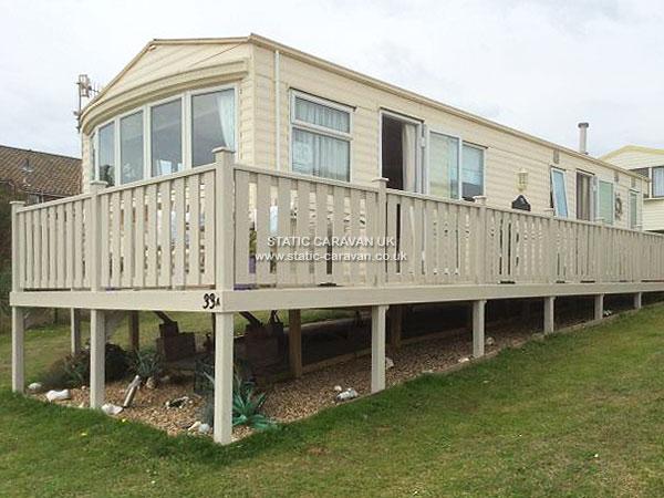 Elegant  Static Caravan Holiday Hire At The Gap East Runton Cromer Norfolk