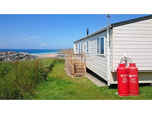 UK Private Static Caravan Holiday Hire at Liskey Hill, Perranporth, Nr Newquay, Cornwall