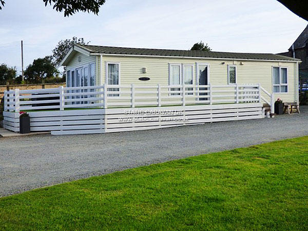 UK Private Static Caravan Holiday Hire at Garnedd Holiday Cottages, Llanfairpwll, Isle of Anglesey, North Wales