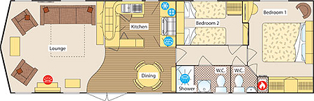 Static Caravan Layout
