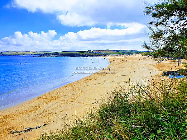 UK Private Static Caravan Holiday Hire at Harlyn Sands, Trevose Head, Nr Padstow, Cornwall