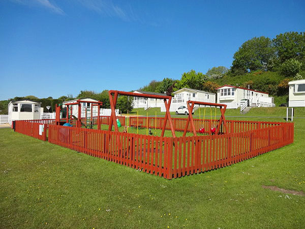 Simple  Caravan Holiday Hire At Glan Gors Brynteg Benllech Anglesey North